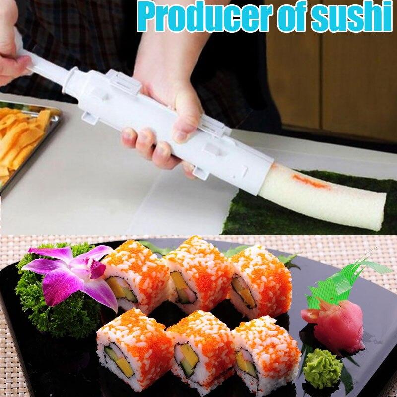 Heißer Verkauf Sushi Maker Werkzeug Rolle Fleisch Gemüse Bazooka Reis Mould DIY Sushis Form Rohr Roller Kochen Küche Gadgets 8