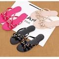 Free Shipping Women Flip Flop Rivets Sandals Beach Jelly Shoes Female Summer Bohemia Sandalies(please choose 1 size up)