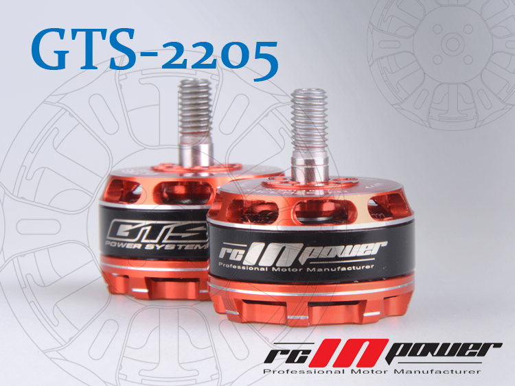 free shipping RCINPOWER GTS2205 2205 2350KV Brushless Motor CW CCW Professional For RC Racing Quadcopter Drones Transcend emax