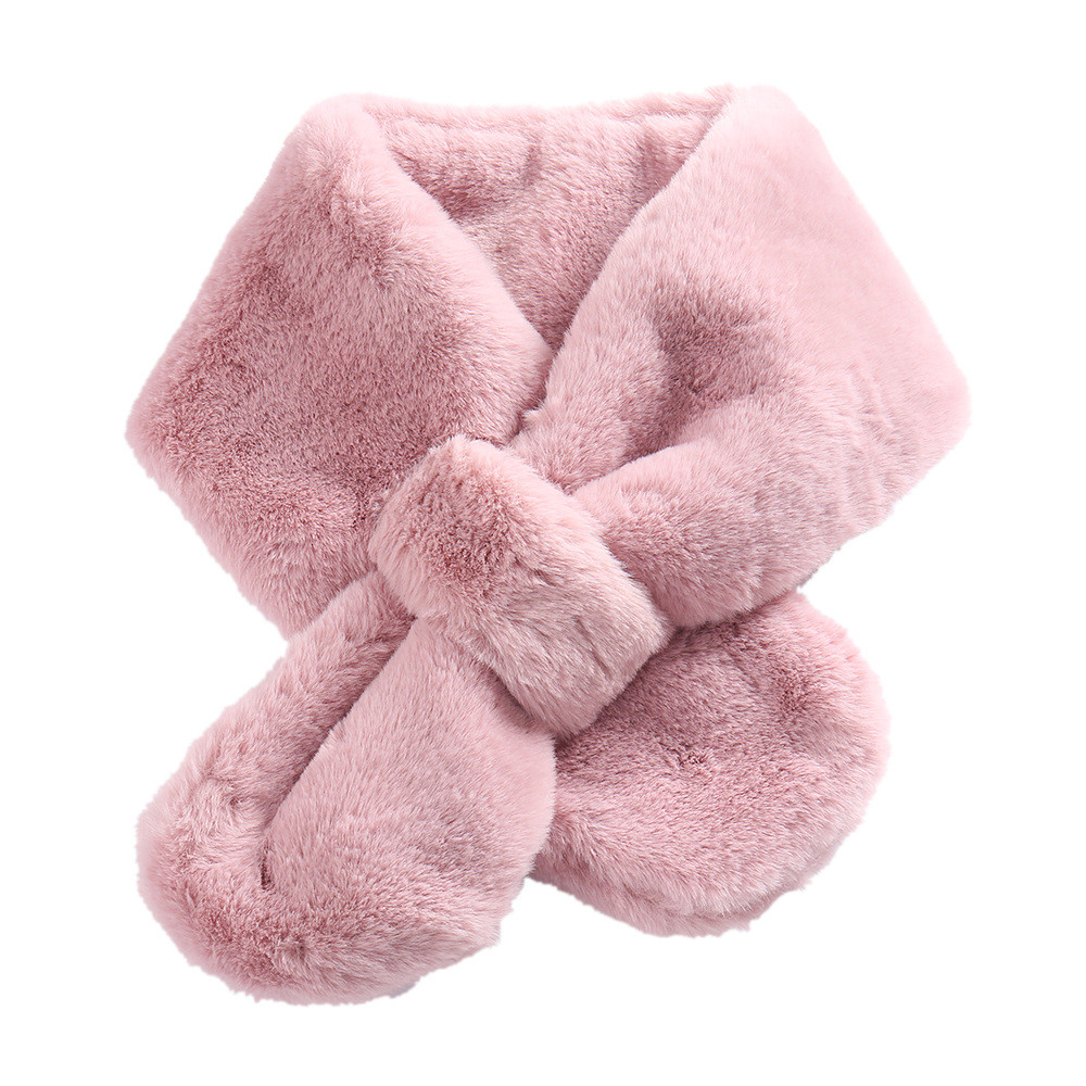 Winter Faux Rubbit Fur Scarf Fake Fur Muffler Women Collar Scarves Eco-friendly Snood Female  Winter Gifts Shawl Wrap Muffler A2
