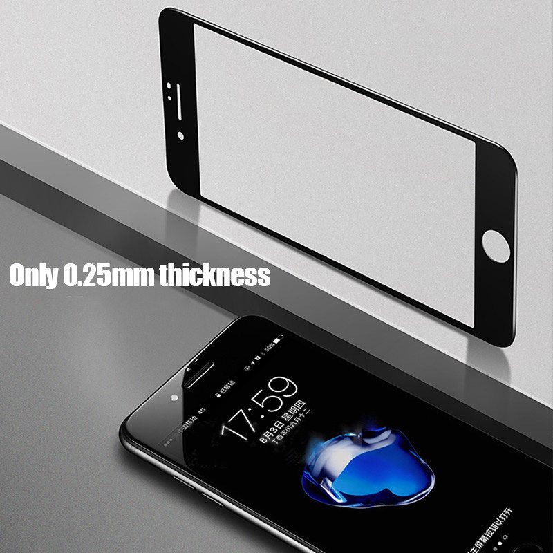 3D Full Screen protective Film for iphone XR XSMAX Black Tempered Glass for iphone 6 6s 6plus 7 7plus 8 8plus X XS Glass Film in Phone Screen Protectors from Cellphones Telecommunications