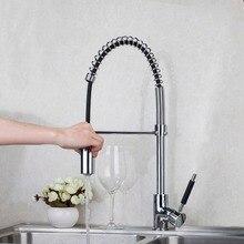 Кухонные смесители 360 Поворотный Польский Chrome смесителя Ванная комната смеситель горячей холодной кран