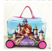 Children 's Trolley Luggage Case on Wheels Kid's Trolley Suitcase Toy Case Girl's Boy's Rolling Suitcase Boarding Pulling Cases