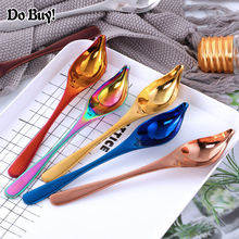 Soup Ladle Sauce Spoon Stainless Steel Duck Mouth Shaped Dressing Spoon Long Hanging Tableware Scoop Utensil Ladle Cooking Tool цена и фото