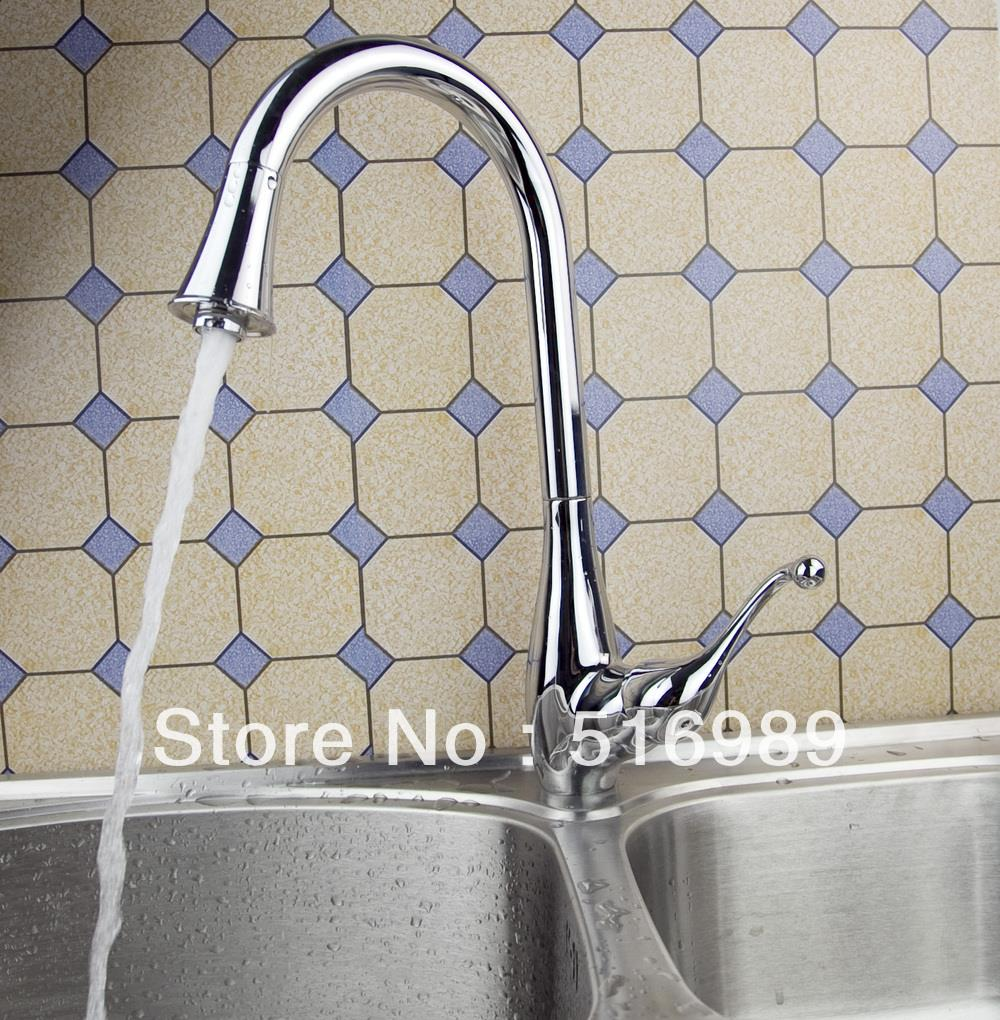 New Kitchen Pull Out Sink Vegetables Basin Hot Cold Faucet Water Taps Abre13