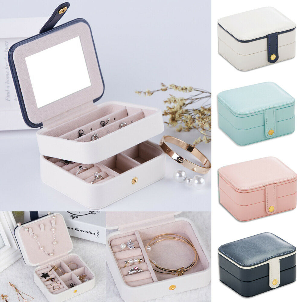 New Arrival Portable Jewellery Box Women Lady Travel Packaging Storage Box Organizer Makeup Case Hot Jewellery Display Box