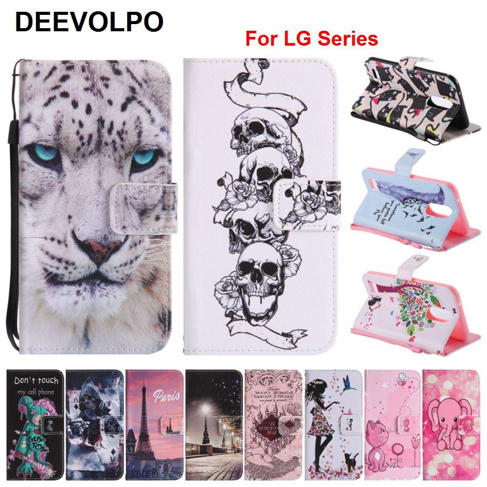 Capa Casos De Couro Colorido Pintado Para LG K10 DEEVOLPO K3 2017 5X G6 X Poder Nexo Stylus 2 LS775 K7 sacos de Telefone Padrão DP06Z K8