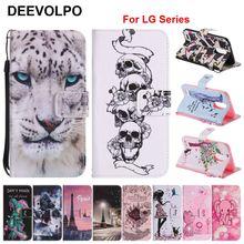 DEEVOLPO Book Fundas For LG K7 K8 K10 K3 2017 US EU Version Pattern Phone Covers For LG G6 X Power Nexus 5X Stylus 2 LS775 DP23Z lg k3 lte k100ds