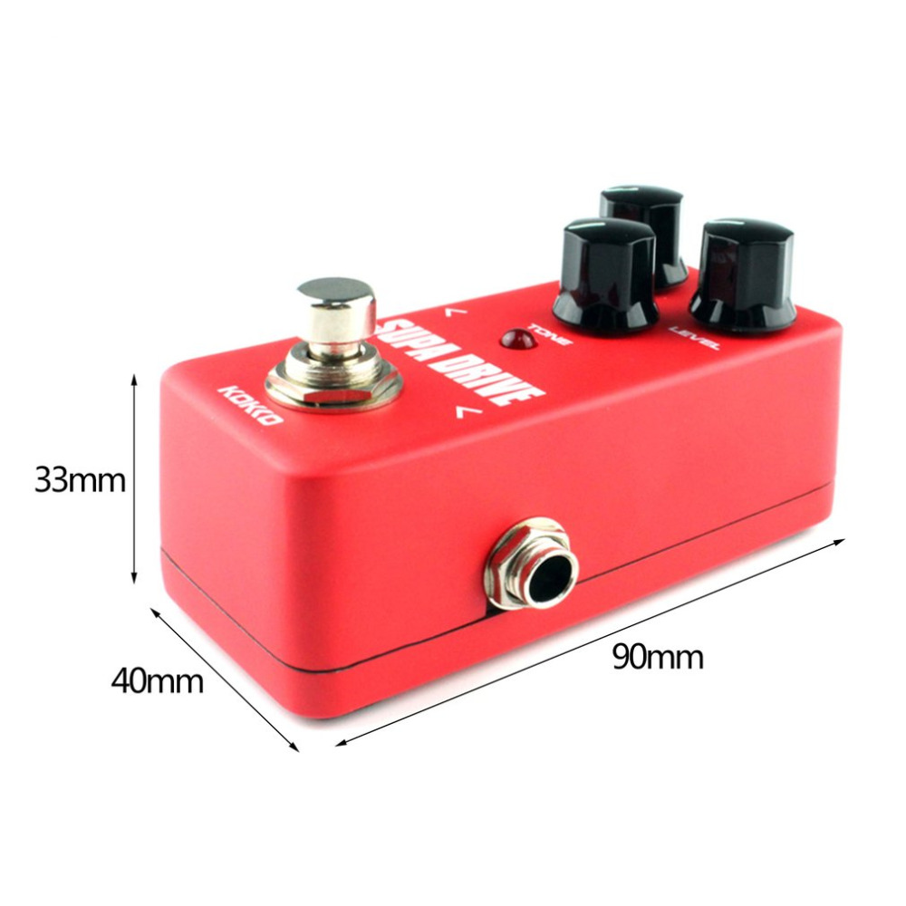 KOKKO FOD5 Mini Supa Drive Electric Guitar Effect Pedal Warm and Clean Overdrive Effect Sound Processor Tube Overload NEW