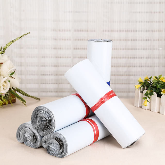 c23cf3fbbcfe Retail 150Pcs Lot White Poly Mailer Mailing Bag Pocket Express Courier  Packing Bag Envelope Plastic Mailers Shipping Package Bag-in Storage Bags  from Home ...