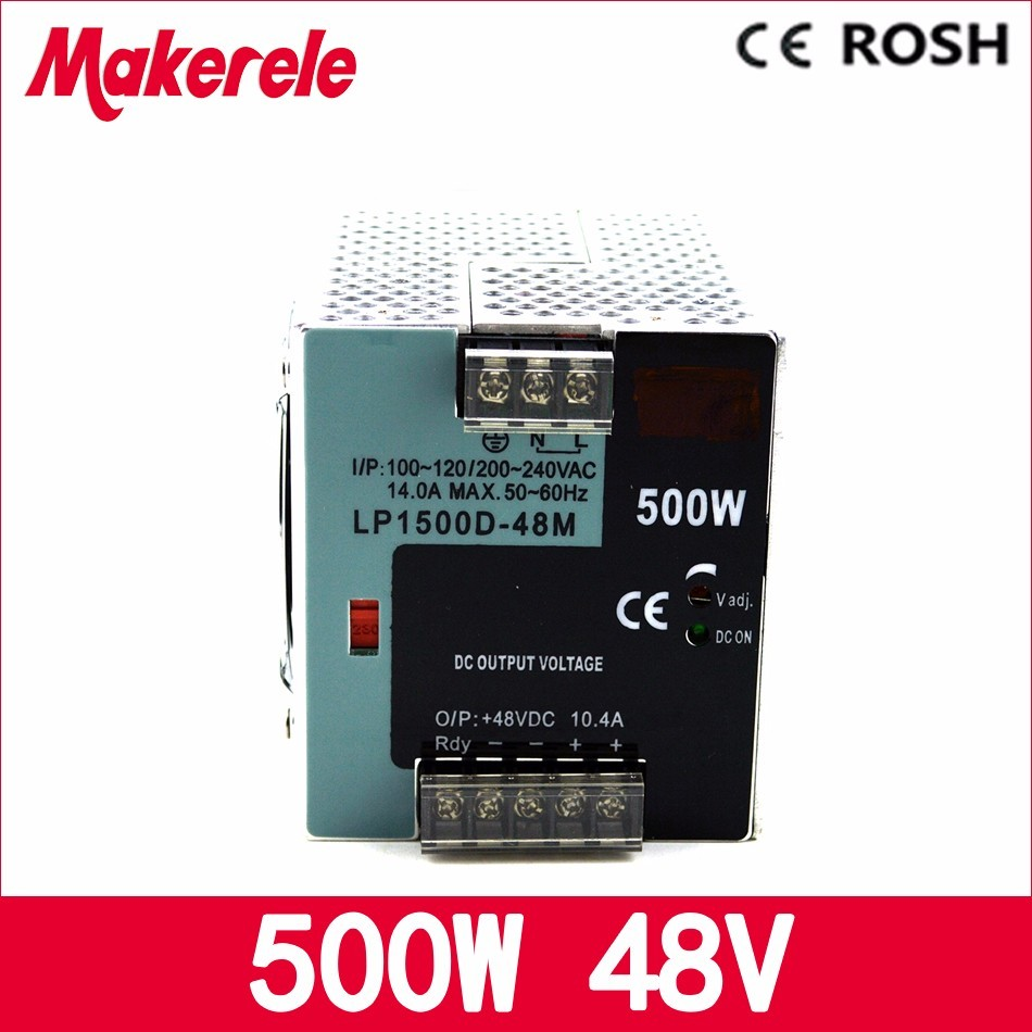 ФОТО LP 500 48 500W 48V 10.4A din rail switch power supply 500w ac dc for led driver