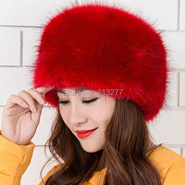Warm Winter Hat 2017 Imitation Fox Fur Hat Fashion Faux Fur Cossak Russian Style Hat for Ladies Winter Hat for Women
