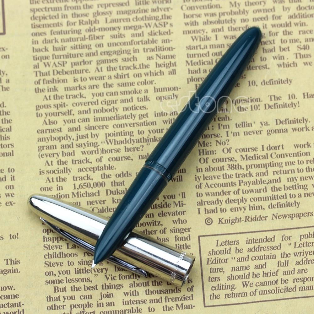 Quality Fountain Pen Hero 366 Hooded Nib Fine Fountain Pen Green nice gift Dropshipping genium hero 100 pen total steeless 14k golden fine nib fountain pen
