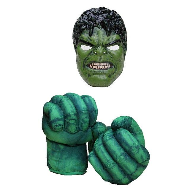 Herói Cosplay Mascarar O Incrível homem Aranha Homem de Ferro Luvas + Máscara Set Crianças Golves Boxe Presente de Aniversário Boneca de Brinquedo de Pelúcia