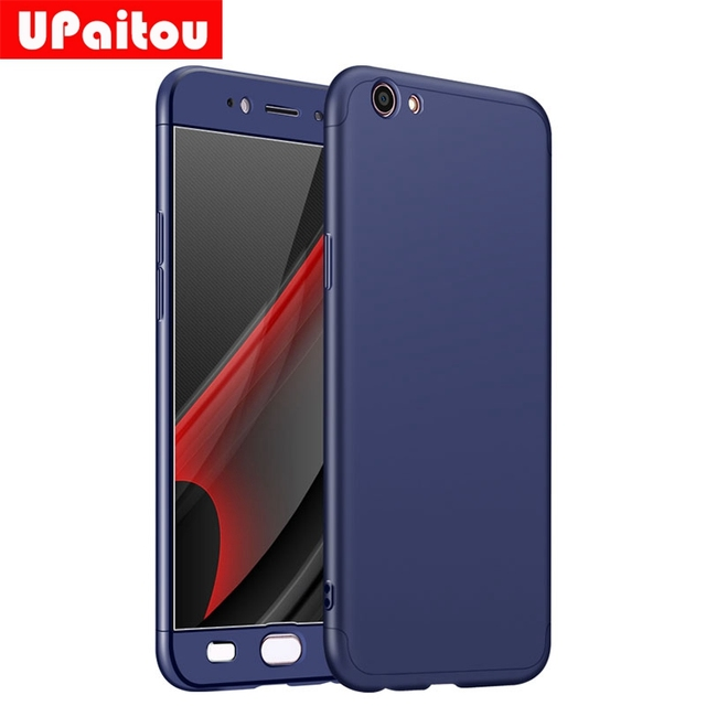 premium selection 94743 9e3ea US $3.69 20% OFF|UPaitou 360 Degree Full Cover Red Cases For OPPO A57 Case  Luxury 3 in 1 Hard PC Coque Case Cover For OPPO A57 Back Case Shell-in ...