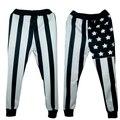 Harajuku 2016 Nuevo EE.UU. bandera emoji joggers pantalones pantalones de chándal de impresión 3D mujeres/hombres Moda pantalones pantalones más el tamaño S-XL