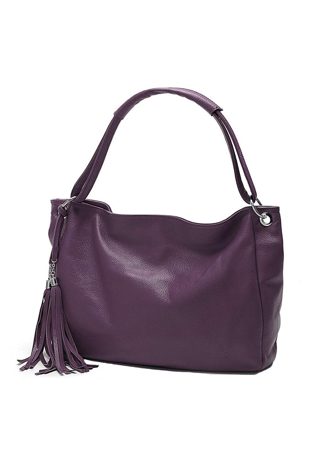 5Pcs Wholesale Women Handbag PU Leather Zipper Closure Tassel Crossbody Shoulder Bag Purple