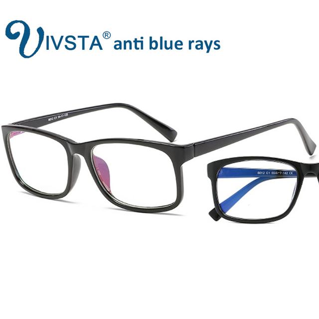 IVSTA Computer Glasses Frames Anti Blue Rays Radiation Men Women Square Spectacle Frames Unisex Optical Gaming LOL Game  8012