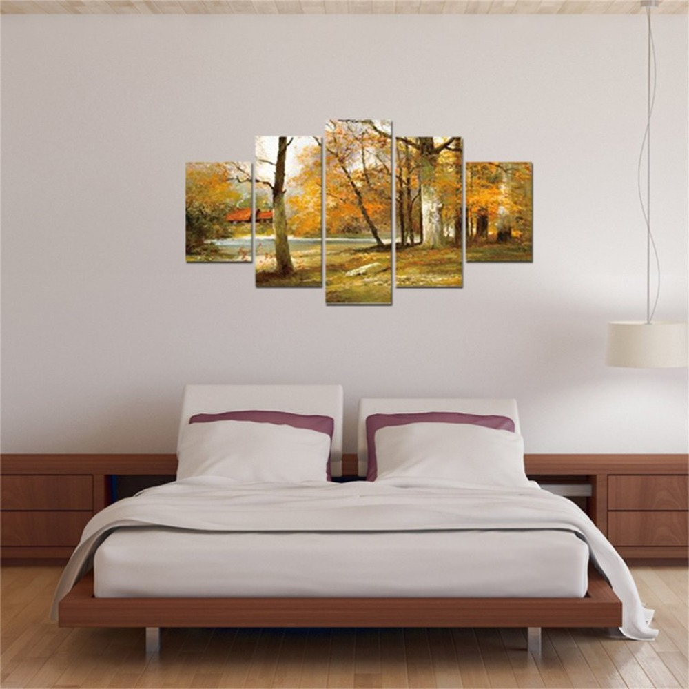 5 Piece/SET Beautiful Landscape Pattern Canvas HD Printed Posters Home Decoration Paintings For Living Room Wall Art Pictures