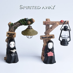 Anime resin crafts night light Spirited Away faceless men LED nightlight hand-painted reading lamp home Decoration table lamp