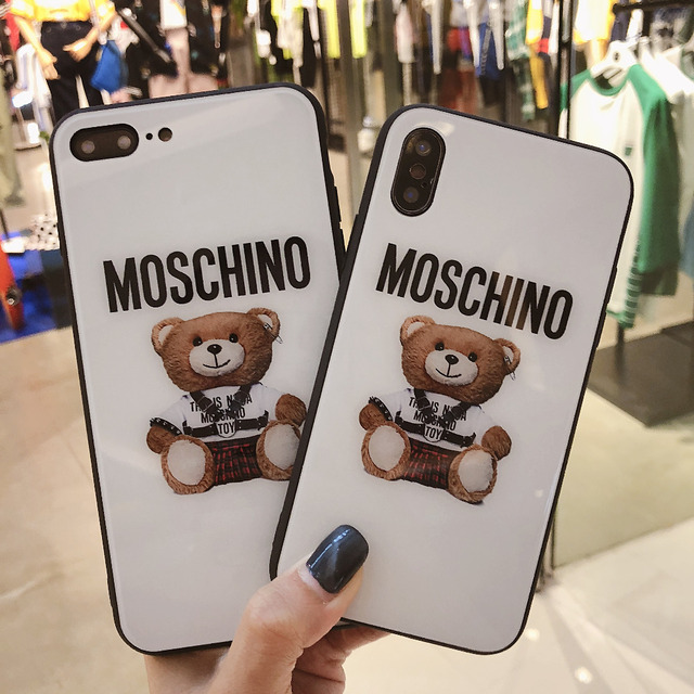 detailed pictures 751fd 4fd65 US $3.32 |Aliexpress.com : Buy For iphone X Fashion Moschino silicone Soft  Cover Case For iphone X 7Plus TPU Coque Fundas For iphone 7 8Plus from ...