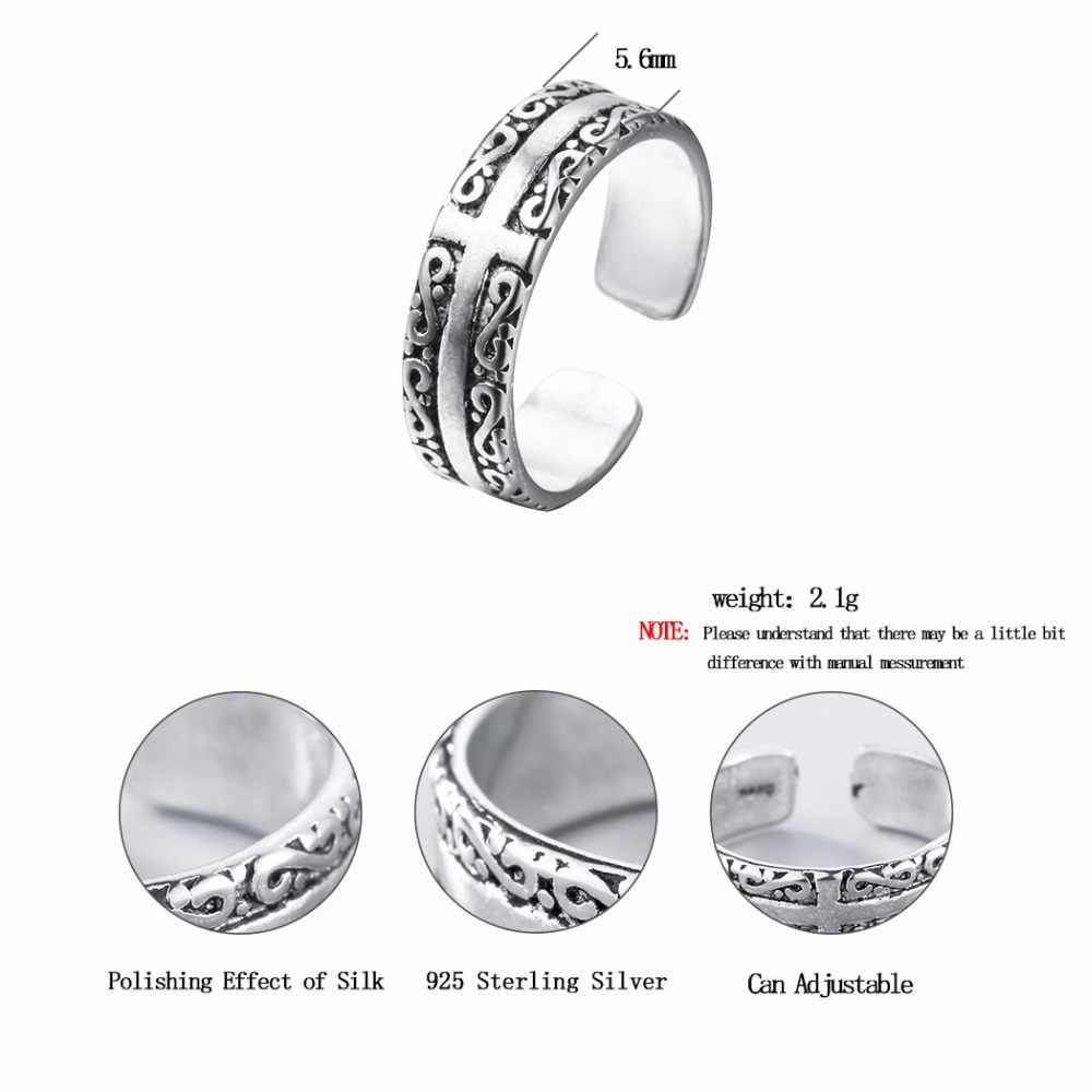 CHENGXUN คลาสสิกสไตล์แหวน Infinite สกรู Criss Cross แกะสลักค็อกเทลแหวนผู้หญิงผู้ชายเครื่องประดับ