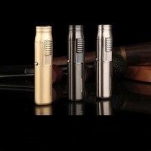 Mini Portable Long strip Windproof Gas lighter Butane Spray gun Metal l