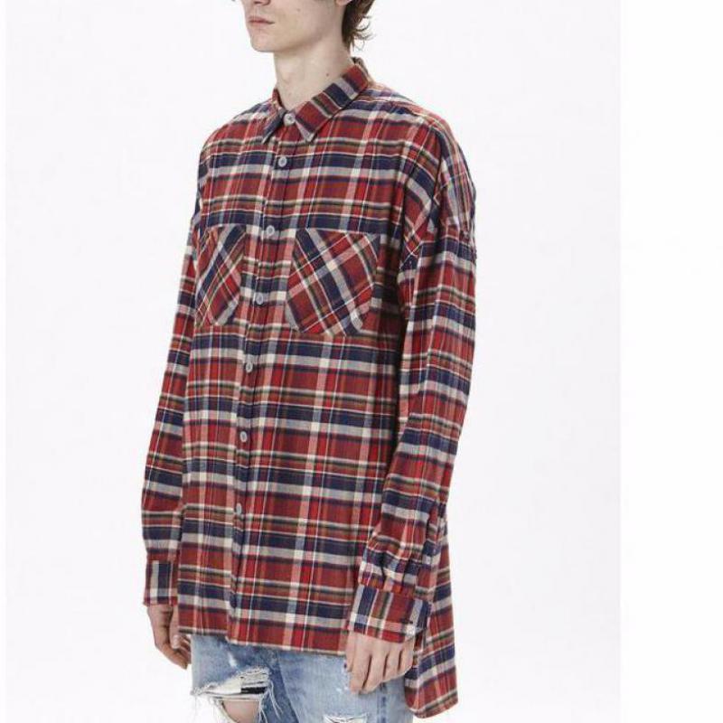 Classic US Hip Hop top quality justin bieber feargod fogshirt Men unisex  flannel Long-sleeved 6d854fc8b07b