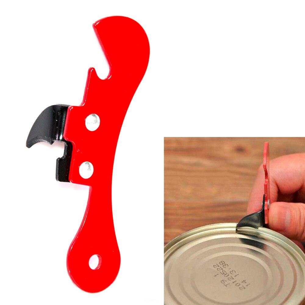 Economic Cooking Tools Can Opener Multifunctional Can Opener Beer Bottle Opener Super Good Jar Opener Random Color