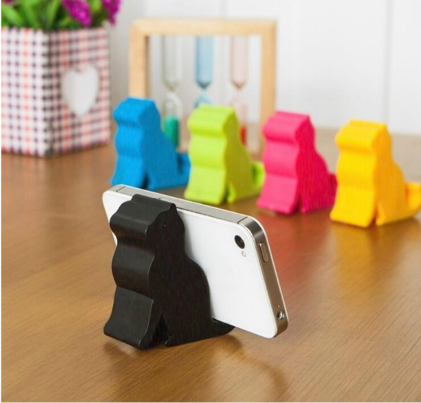 NEW 2PC Universal Hot Sell Cute Mini Cat Shape Phone Tablet Mounts Stand Holder Tool For IPhone IPad Phone Tablet Mounts Stand