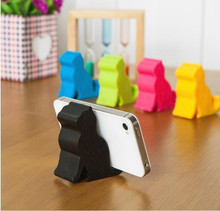 NEW 2PC Universal Hot sell Cute Mini Cat Shape Phone Tablet Mounts Stand Holder Tool for iPhone iPad