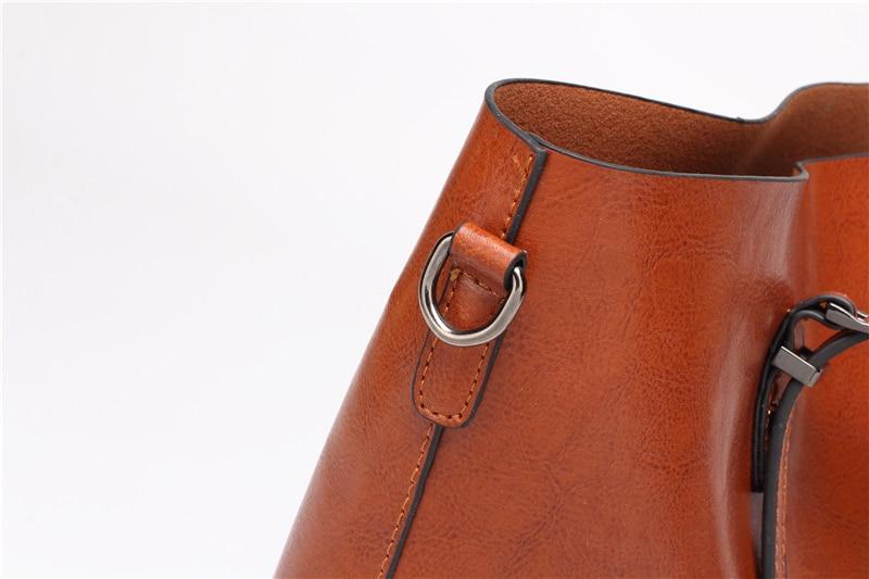 Women Tuff Leather Tote Handbag 16
