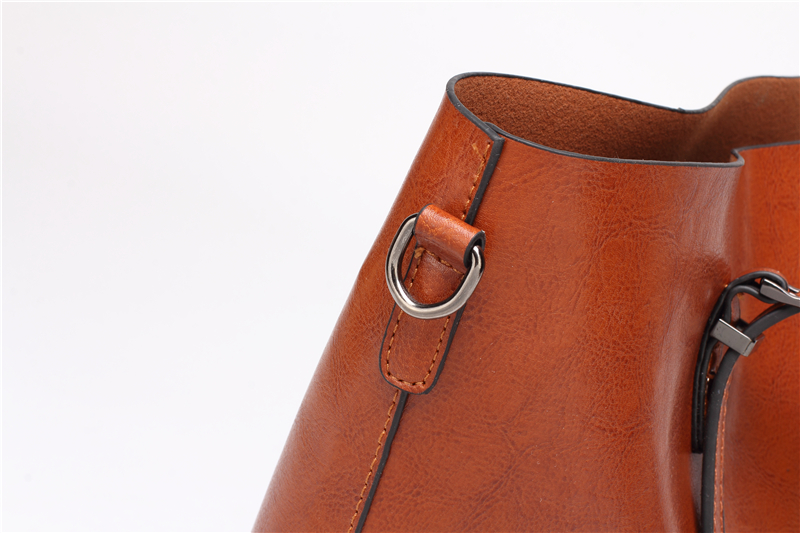 DIDA BEAR Brand Women Leather Handbags Lady Large Tote Bag Female Pu Shoulder Bags Bolsas Femininas Sac A Main Brown Black Red 17