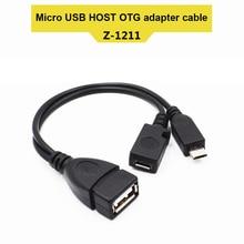 Etmakit 2 w 1 OTG Micro USB moc hosta Y Splitter Adapter USB do Micro 5 Pin męski kabel żeński NK zakupy