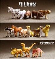 14 PÇS/SET dos desenhos animados modelo animal brinquedo de montar modelo Odor-free ambiente figura de brinquedo