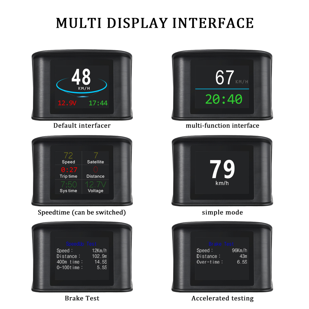 Image 2 - OBDHUD T600GPS OBD Computer Car Speed Projector Digital Speedometer Display Fuel Consumption Temperature Gauge Diagnostic Tool-in Head-up Display from Automobiles & Motorcycles