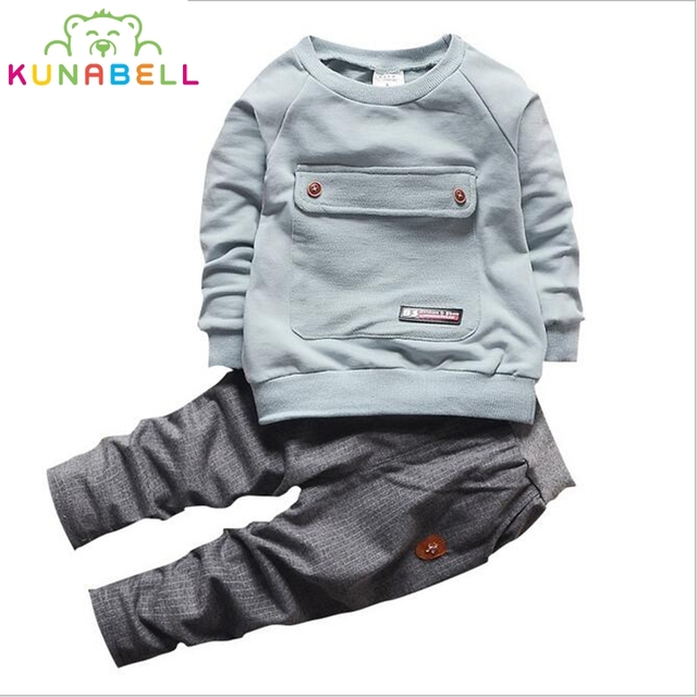 9bbeb9af604 Kids Baby 2017 Spring Fashion Formal Kids baby Boy birthday dress Cotton  Clothing Set T-