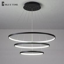 40CM 60CM 80CM New Modern Led Ceiling Lights Circle Ring Chandelier Lamp For Living Room Bedroom Indoor Fixture