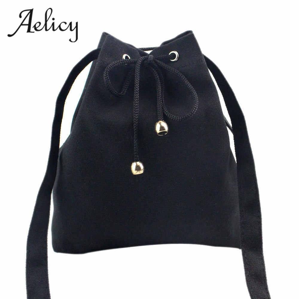 2017 New Canvas Drawstring Lady Bucket Bag Shoulder Handbags Luxury Handbags Women Bags Designer Crossbody Brand 2017