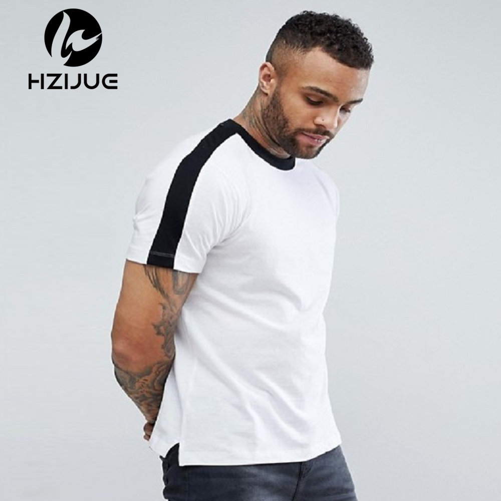 HZIJUE Fashion 2018 summer Men O-Neck 100% Cotton T-shirt Mens Casual Tops Tees 5 colors ...