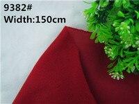 9382 # Profondo Rosso Colore Loop tessuto Pile può attaccare da Magic tape/DIY patchwork peluche divano spazzolato velboa velluto (1 metro)