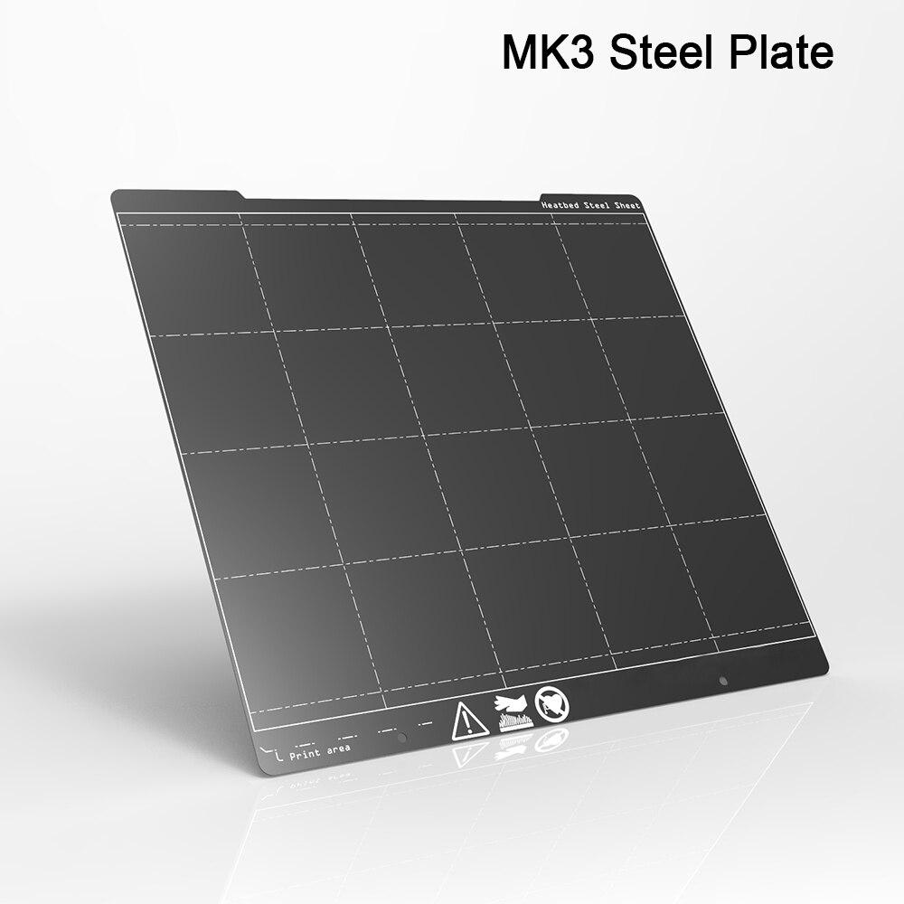 MK3 I3 254X241 D'origine PEI Plaque D'acier À Ressort Double Face Enduit de Poudre Pour Prusa i3 MK3 Mk3S MK2 3D imprimante