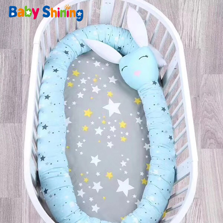 Baby Shining 3.3m Baby Animal Bumper Pad Bed Around Cushion Cotton Protector Pillows Baby Bedding Children's Room Protect Bumper