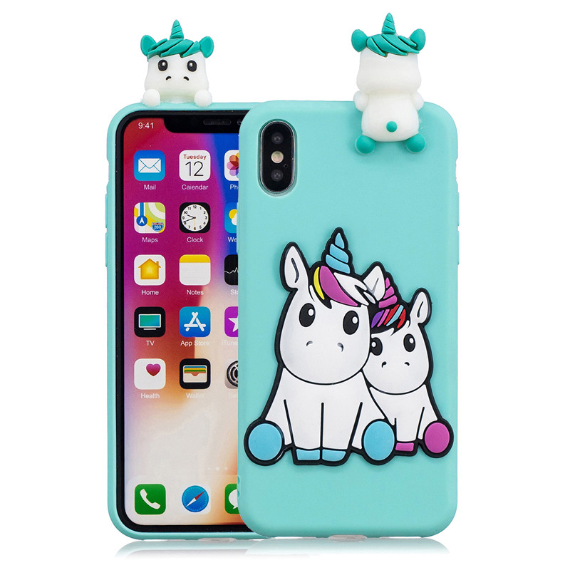 For Coque iPhone XS Case on For iPhone XS Max XS XR X 5S 6 6S 7 8 Plus Cover Fundas 3D Doll Toys Soft TPU Silicone Phone Cases