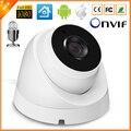 Externo de Audio Cámara IP 720 P 960 P 1080 P (SONY IMX322 Sensor) Domo para interiores Cámara de Vigilancia de Vídeo IP 2 UNIDS LED ARRAY ONVIF