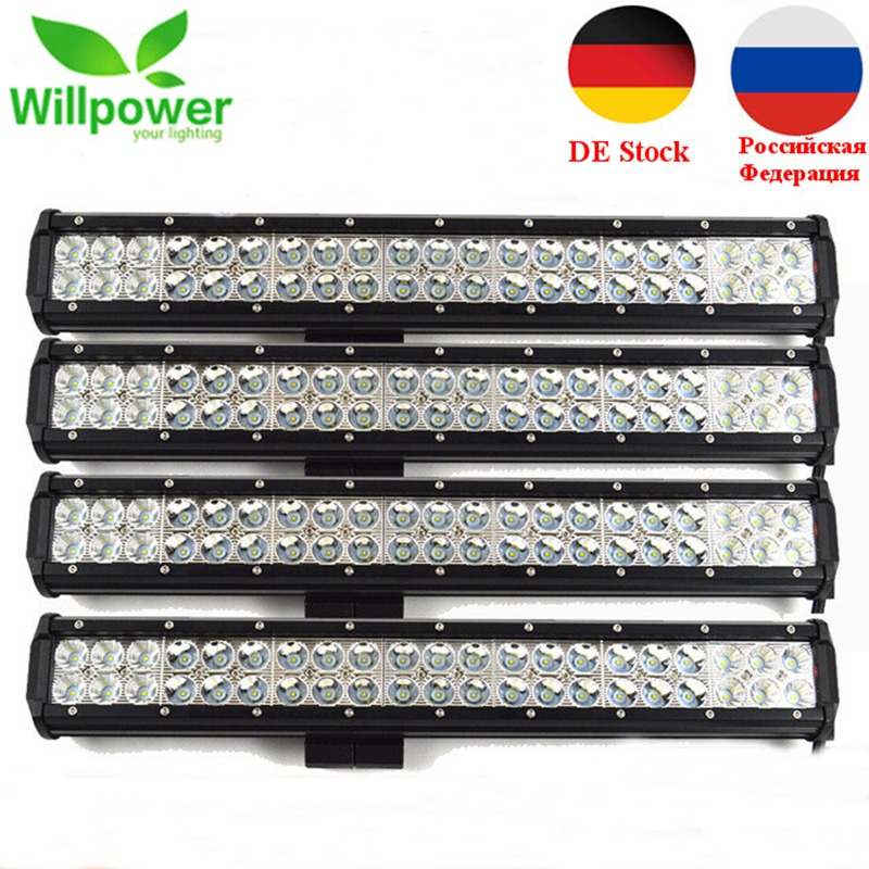 Willpower IP67 Waterproof 20inch 126w LED Light Bar 12V 4x4 Truck Work Light Bar Offroad LED Light Bar LED Light Beam amber white led offroad bar gdcreestar selling 20inch 12v led offroad bar kr9016 90 90w 12v led driving work bar lights
