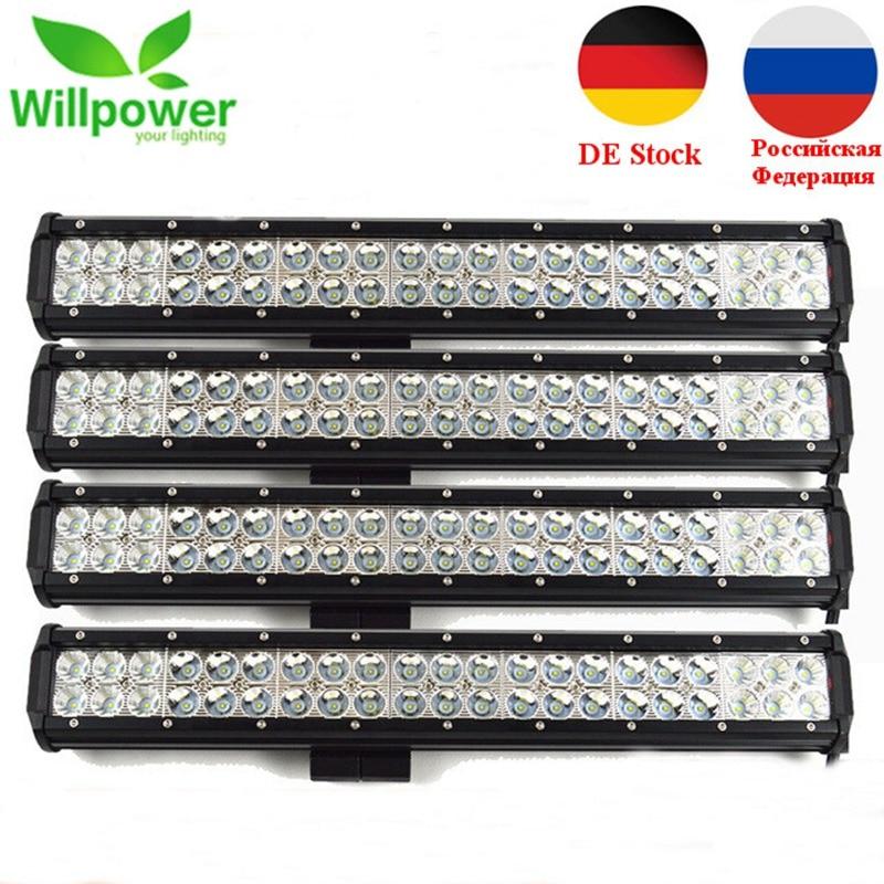 Willpower IP67 Waterproof 20inch 126w LED Light Bar 12V 4x4 Truck Work Light Bar Offroad LED Light Bar LED Light Beam truck led ramp 36w led light bar with ip67 waterproof rate