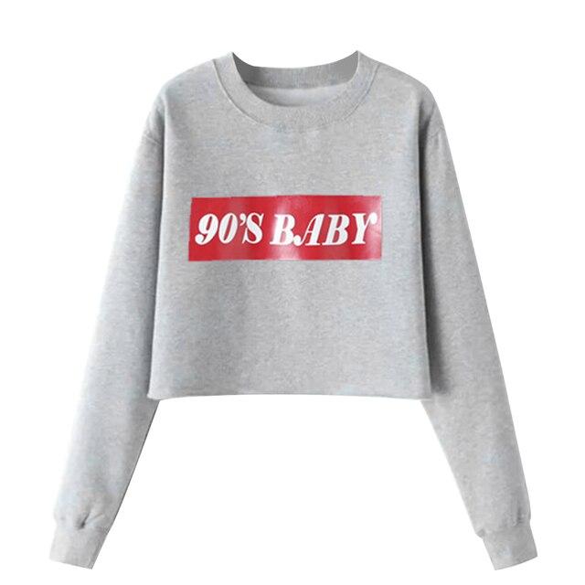 c8f58f665935 2018 Autumn Harajuku Long Sleeve Tracksuit Pullovers Women 90s Baby ...