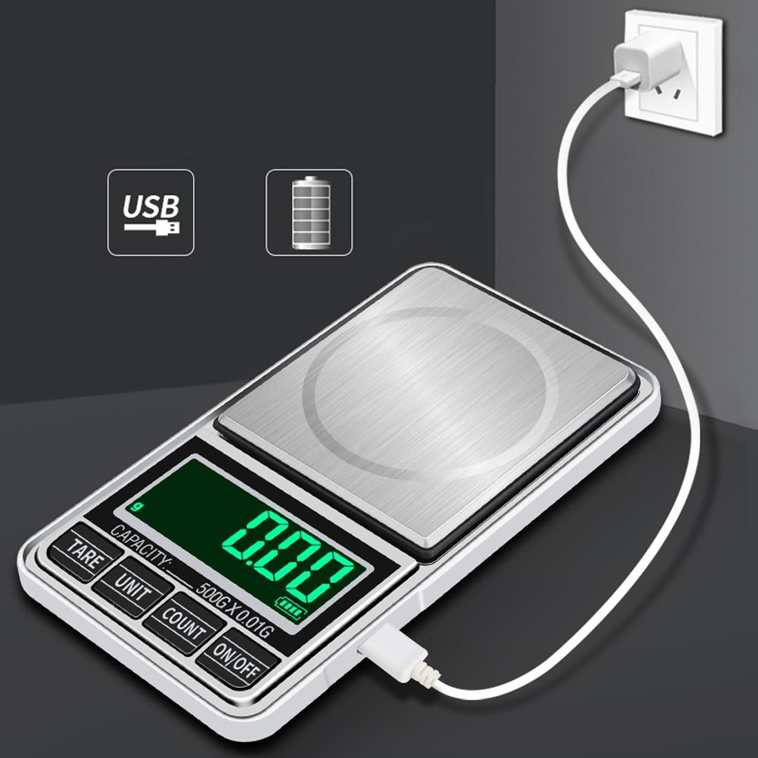 100g/200g/300g/500g 0.01g Mini Balança Digital de Bolso Jóias Escalas de Precisão balanca Digital de Peso Balança eletrônica Escala