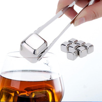 8Pcs Lot Whiskey Wine Beer Stones 440C Stainless Steel Cooler Stone Whiskey Rock Ice Cube Edible